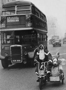Father Christmas and bear