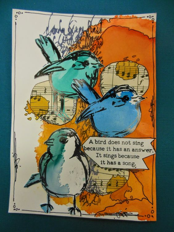 A bird does not sing