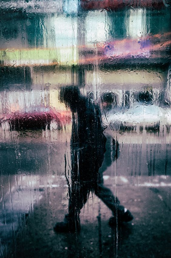 Rained upon